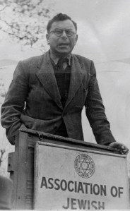 Joseph Witriol: one of the speaker's in AJEX's campaign against antisemitism and Fascism AFTER WW2